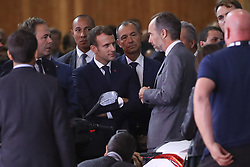 October 3, 2018 - Paris, France - Luc Ch‰tel ( President Plateforme Automobile PFA ) / Emmanuel Macron et Costantino Sambuy  (Credit Image: © Panoramic via ZUMA Press)