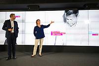 DEU, Deutschland, Germany, Berlin,09.07.2017: FDP-Parteivorsitzender Christian Lindner und FDP-Generalsekretärin Nicola Beer bei einer Pressekonferenz zur Vorstellung der Kampagne der FDP zur Bundestagswahl 2017 im Museum am Brandenburger Tor.