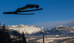 06.01.2015, Paul Ausserleitner Schanze, Bischofshofen, AUT, FIS Ski Sprung Weltcup, 63. Vierschanzentournee, Probedurchgang, im Bild Rok Justin (SLO) // Rok Justin of Slovenia during Trial Jump of 63rd Four Hills Tournament of FIS Ski Jumping World Cup at the Paul Ausserleitner Schanze, Bischofshofen, Austria on 2015/01/06. EXPA Pictures © 2015, PhotoCredit: EXPA/ JFK
