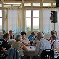 Circolo per anziani in una sede dell'AMPI a Nervi. Club for the elderly in a home AMP in Nervi