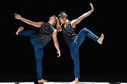 © Licensed to London News Pictures. 11/10/2012. London, UK. Sadler's Wells Theatre present Cedar Lake Contemporary Ballet Company. Picture shows Alexander Ekman's Tuplet, dancer(s): Jon Bond & Matthew Rich.  Photo credit: Tony Nandi/LNP