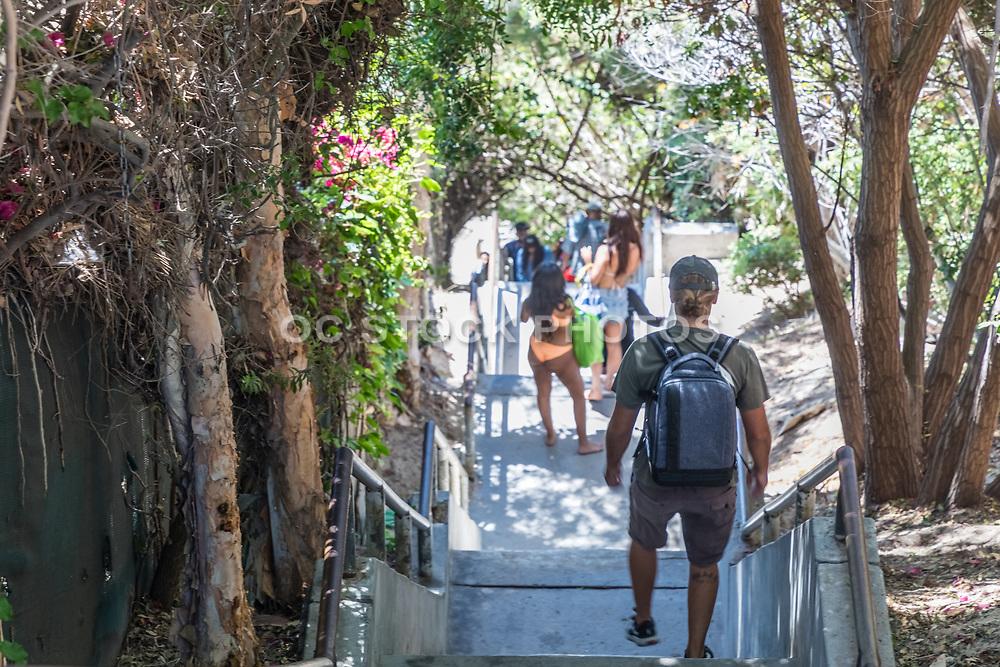 Laguna Beach Locals On Their Way To Thousand Steps Beach