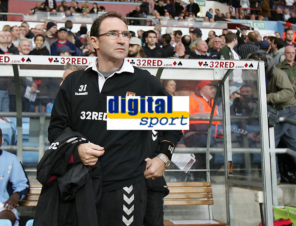 Photo: Lee Earle.<br /> Aston Villa v Fulham. The Barclays Premiership. 21/10/2006. Villa manager Martin O'Neill.