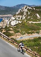 FRANKRIJK - Toeristen met zicht op de Middellandse Zee bij Cassis. Route des Crêtes la Ciotat Cassis  Var France.   ANP COPYRIGHT KOEN SUYK