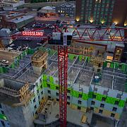 Hampton Inn Hotel under construction at 16th and Main, downtown Kansas City, Missouri.