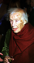 Writer FRANCES PARTRIDGE at a reception in London on 10th November 1999.MYZ 31