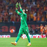 Galatasaray's goalkeeper Nestor Fernando Muslera celebrate victory during their Turkish Super League derby match Galatasaray between Besiktas at the AliSamiYen Spor Kompleksi TT Arena at Seyrantepe in Istanbul Turkey on Sunday, 24 May 2015. Photo by Aykut AKICI/TURKPIX