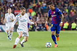 May 6, 2018 - Barcelona, Catalonia, Spain - FC Barcelona midfielder Paulinho (15) and Real Madrid midfielder Mateo Kovacic (23) during the match between FC Barcelona v Real Madrid, for the round 36 of the Liga Santander, played at Camp nou  on 6th May 2018 in Barcelona, Spain. (Credit Image: © Urbanandsport/NurPhoto via ZUMA Press)