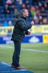 Dundee United's manager Csaba Laszlo. Falkirk 6 v 1 Dundee United, Scottish Championship game played 6/1/2018 played at The Falkirk Stadium.