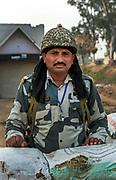 Border security patrol,India-Pakistan border, near Amritsar