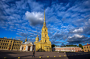 The Peter and Paul Fortress is the original citadel of St. Petersburg, Russia, founded by Peter the Great in 1703 and built to Domenico Trezzini's designs from 1706 to 1740 as a star fortress.