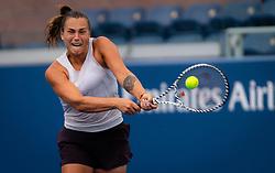 August 21, 2019, New York, NEW YORK, USA: Aryna Sabalenka during practice at the 2019 US Open Grand Slam tennis tournament (Credit Image: © AFP7 via ZUMA Wire)