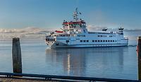 SCHIERMONNIKOOG -  Waddenzee , veerboot Rottum van Rederij Wagenborg.  tussen Lauwersoog en Schiermonnikoog. . ANP COPYRIGHT KOEN SUYK