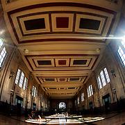Kansas City Union Station former waiting area with fisheye lens.
