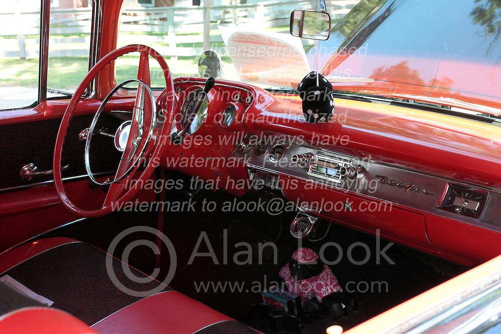7 August 2010: 1958 Chevrolet Belair. Antique Car show, David Davis Mansion, Bloomington Illinois