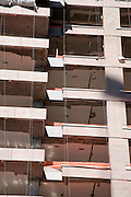 abstract view of a high rise building under construction