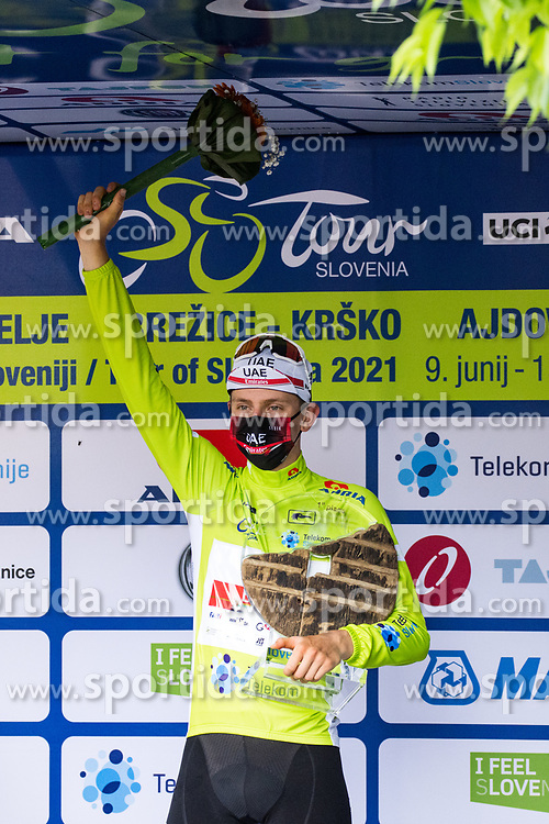 Tadej POGACAR of UAE TEAM EMIRATES at trophy ceremony after the 5th Stage of 27th Tour of Slovenia 2021 cycling race between Ljubljana and Novo mesto (175,3 km), on June 13, 2021 in Slovenia. Photo by Matic Klansek Velej / Sportida