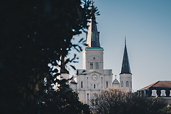 THEMENBILD - Blick auf die St. Louis Kathedrale, aufgenommen am 04.01.2019, New Orleans, Vereinigte Staaten von Amerika // view of the St. Louis Cathedral, New Orleans, United States of America on 2019/01/04. EXPA Pictures © 2019, PhotoCredit: EXPA/ Florian Schroetter