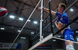 Auke van de Kamp of Lycurgus in action during the cup final between Amysoft Lycurgus vs. Draisma Dynamo on April 18, 2021 in sports hall Alfa College in Groningen