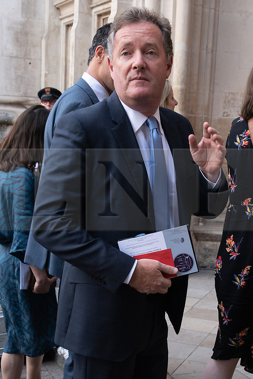 © Licensed to London News Pictures. 15/06/2018. London, UK.  Piers Morgan attends the memorial service for Professor Stephen Hawkin at Westminster Abbey. Photo credit: Ray Tang/LNP