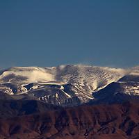 Africa, Morocco, Skoura. Atlas Mountains from Skoura.