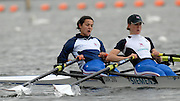 Caversham, Great Britain, left, Hester GOODSELL and Helen CASEY, GB Rowing media day at the Redgrave Pinsent Rowing Lake. GB Rowing Training centre. Tue. 29.04.2008  [Mandatory Credit. Peter Spurrier/Intersport Images] Rowing course: GB Rowing Training Complex, Redgrave Pinsent Lake, Caversham, Reading