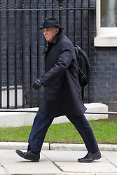 © Licensed to London News Pictures. 18/03/2014. London, UK. The Business Secretary, Vince Cable, arrives for a meeting of the British cabinet on Downing Street in London today (18/03/2014). Photo credit: Matt Cetti-Roberts/LNP