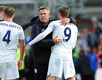 Football - 2016 / 2017 Premier League - Crystal Palace vs. Leicester City<br /> <br />  Leicester City Manager Craig Shakespeare gives goalscorer Jamie Vardy a hug at the final whistle at Selhurst Park.<br /> <br /> COLORSPORT/ANDREW COWIE