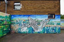 Mural on house near the Falls Road in Belfast, Northern ireland<br /> <br /> (c) Andrew Wilson | Edinburgh Elite media