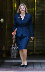 © Licensed to London News Pictures. 16/07/2018. London, UK. Justine Greening MP walks from TV studios near Parliament after giving interviews. Ms Greening has said in an interview with The Times that a second referendum on leaving the EU should be held. Photo credit: Peter Macdiarmid/LNP