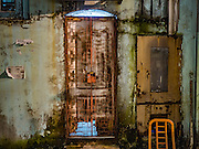 27 DECEMBER 2016 - SINGAPORE:  A doorway in an alley in the Little India section of Singapore.      PHOTO BY JACK KURTZ