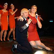 Optreden Carlo Boszhard en zwangere Irene Moors als Willem Alexander en Maxima Zorrquietta