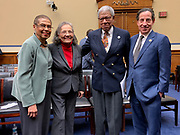 Civil rights icons Rep. Eleanor Holmes Norton, Diane Nash and Timothy L. Jenkins are joined with Rep. Jamie Raskin (D-MD), chair of the Subcommittee on Civil Rights and Civil Liberties of the House Committee on Oversight and Reform.