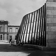 Stuttgart, Germany, Baden - Württemberg 1987: Undulating main façade, Neue Staatsgalerie, by James Stirling and Michael Wilford Architects. Photography by Alejandro Sala Visit SHOP Images to purchase a digital file,  explore other Alejandro Sala images. |  AS • Atelier• Architecture + Photography