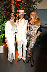 Left to right, ANDY & PATTI WONG and JERRY HALL at Andy & Patti Wong's Chinese New Year party to celebrate the year of the Rooster held at the Great Eastern Hotel, Liverpool Street, London on 29th January 2005.  Guests were invited to dress in 1920's Shanghai fashion.<br /><br />NON EXCLUSIVE - WORLD RIGHTS