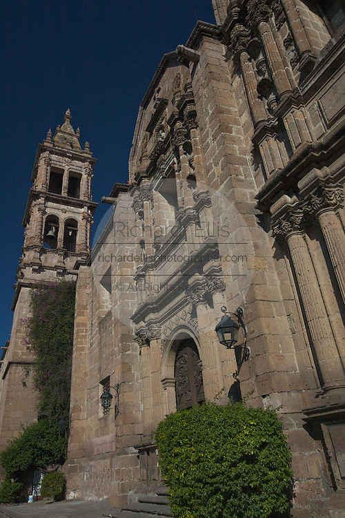 The Templo del las Monjas in Morelia, Michoacan state Mexico. The city is a UNESCO World Heritage Site and hosts on of the best preserved collection of Spanish Colonial architecture in the world. The site was built between the years 1729 and 1737 to house the Dominican nuns who were formerly in the convent of the Roses.