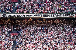 14-08-2018 NED: Champions League AFC Ajax - Standard de Liege, Amsterdam<br /> Third Qualifying Round,  3-0 victory Ajax during the UEFA Champions League match between Ajax v Standard Luik at the Johan Cruijff Arena / Ajax support, Cruijff