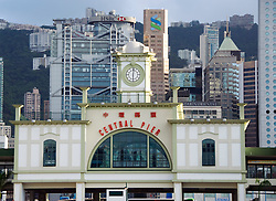 New Central Pier for Star Ferry built in faux historic colonial architectural style in Hong Kong