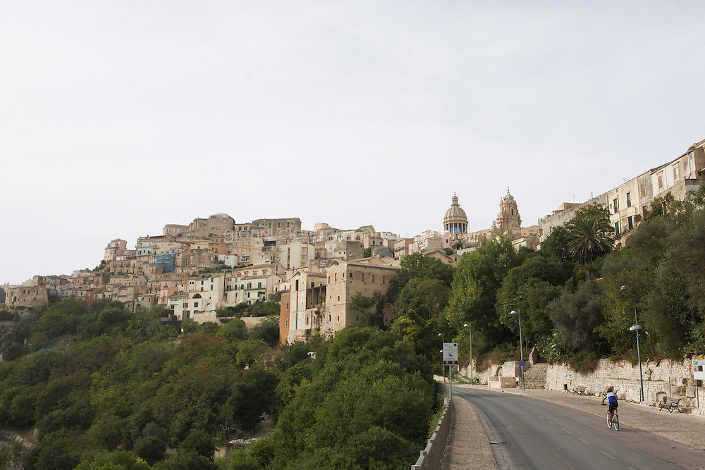 """RAGUSA IBLA, ITALY - 22 OCTOBER 2014: A view of Ragusa Ibla, where scenes of the TV series """"Il Commissario Montalbano"""" have been shot, by Piazza Duomo in Ragusa Ibla, Italy, on October 22nd 2014."""