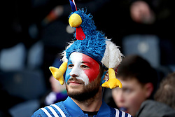 A France fan show support for their team during the NatWest 6 Nations match at BT Murrayfield, Edinburgh.