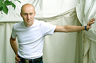 Scottish crime writer Christopher Brookmyre, pictured at the Edinburgh International Book Festival where he talked about his dark and funny series of novels. The Book Festival is the world's biggest literary festival with appearances by over 500 authors from across the world.....