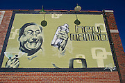 A mural painted on a wall outside of Hey Mambo, a restaurant in The Brady District, on Saturday, October 19, 2013, in Tulsa, Okla.<br /> <br /> http://www.heymambo.com/