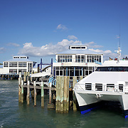 The Devonport Ferry at the wharf in Devonport. Auckland, New Zealand, 7th November 2010. Photo Tim Clayton.