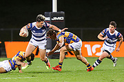 Auckland player AJ Lam on the charge against Bay of Plenty during the Mitre 10 Cup match played at Rotorua International Stadium in Rotorua on Friday 2nd October 2020.<br /> Copyright photo: Alan Gibson / www.photosport.nz