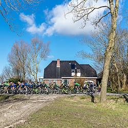 07-03-2020: Wielrennen: Ronde van Groningen: Usquert<br />De koers in het Groninger landschap