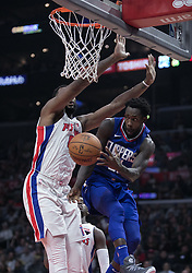 October 28, 2017 - Los Angeles, California, U.S - Patrick Beverley #21 of the Los Angeles Clippers seeks to pass  during their NBA game with the Detroit Pistons on Saturday October 28, 2017 at the Staples Center in Los Angeles, California. Clippers lose to Pistons, 95-87. (Credit Image: © Prensa Internacional via ZUMA Wire)