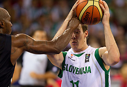 Goran Dragic of Slovenia during the Preliminary Round - Group B basketball match between National teams of USA and Slovenia at 2010 FIBA World Championships on August 29, 2010 at Abdi Ipekci Arena in Istanbul, Turkey.  (Photo by Vid Ponikvar / Sportida)