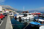 View of harbour, Korcula town, island of Korcula, Croatia