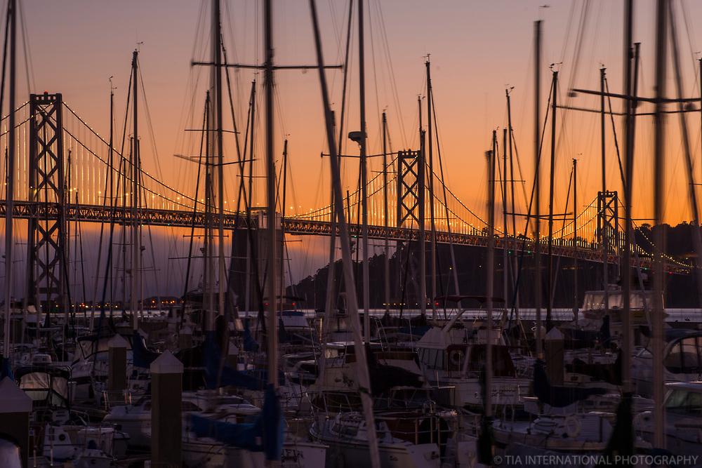 Bay Bridge & Boats @ South Beach Harbor, Sunrise