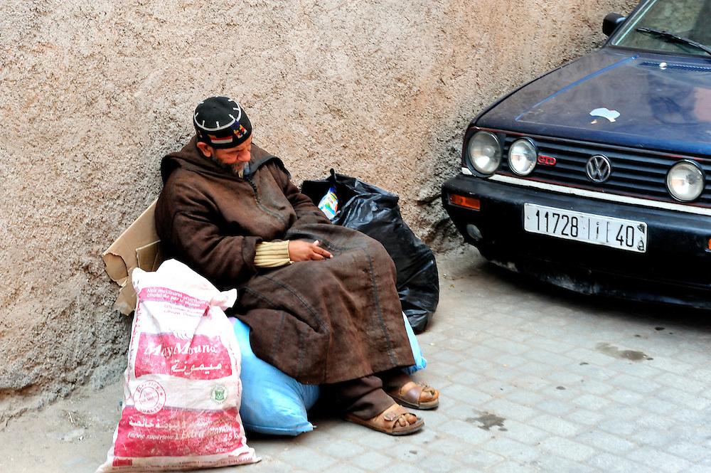 Begger in the Medina of Marrakesh